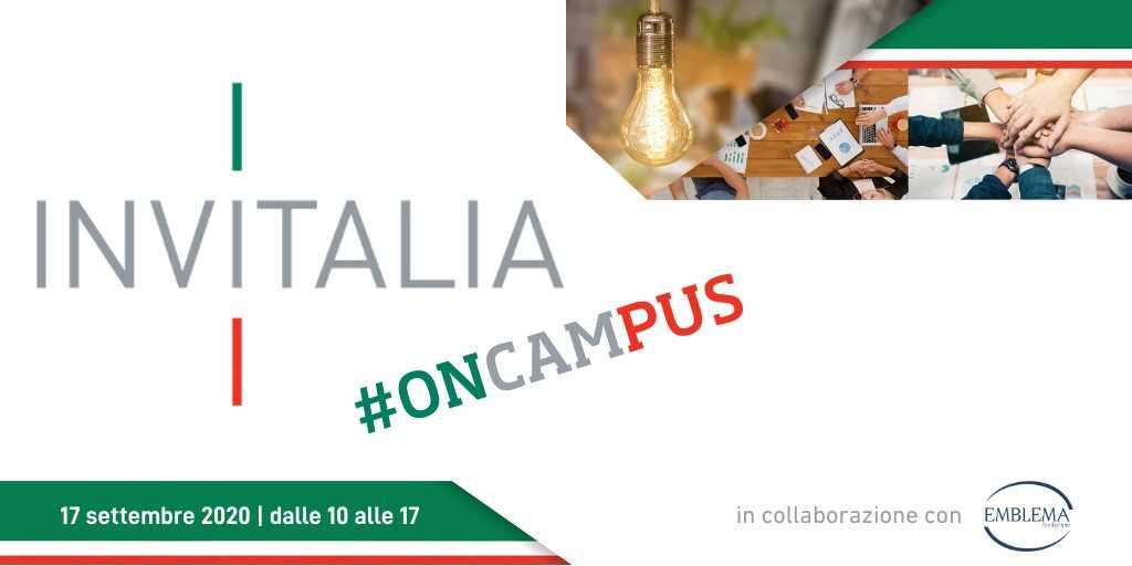 In arrivo il 17 settembre 'Invitalia #oncampus'